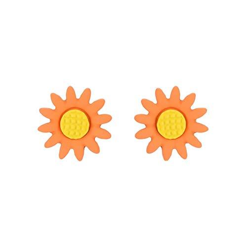 Demarkt Pendientes de flor de aceite de goteo de aleación de pendientes de mujer exquisitos pendientes de mujer sencillos 1PCS pendientes de moda de mujer de 15 mm (estilo-1)