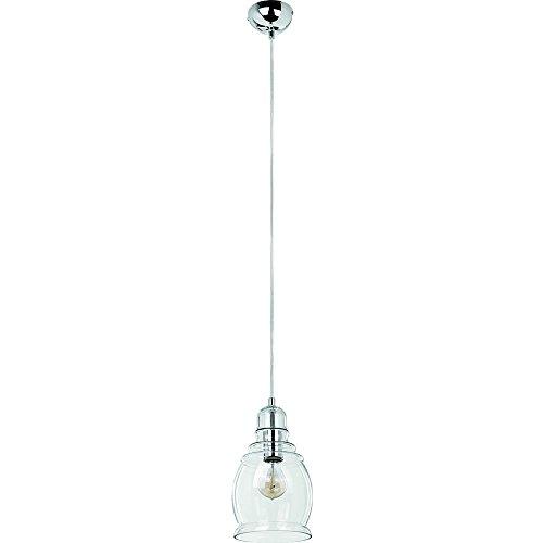 Suspension NOVA 1, 1 ampoule E27, chrome/transparent classe d'efficacité énergétique : A + + – E