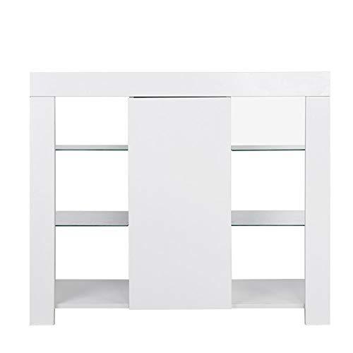 Zerone - Aparador moderno para salón, mueble contenedor de salón, cajonera de...