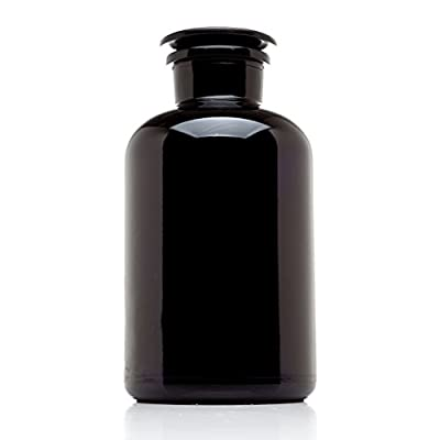 Infinity Jars 2 Liter (68 fl oz) Black Ultraviolet All Glass Refillable Empty Apothecary Jar