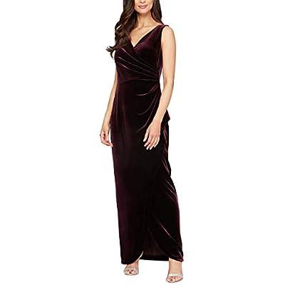 Alex Evenings Women's Long Sleeveless Velvet Dress