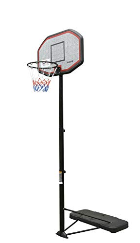 """aokung Family Portable Basketball Hoop & Goals with 43"""" Impact Backboard Basketball System Height Adjustable 6.5ft - 10ft for Youth Adults Indoor Outdoor"""