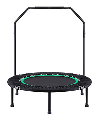 Ludosport Foldable Trampoline Rebounder 40 Inch Fitness Trampoline for Kids Adults Workout Max Load...