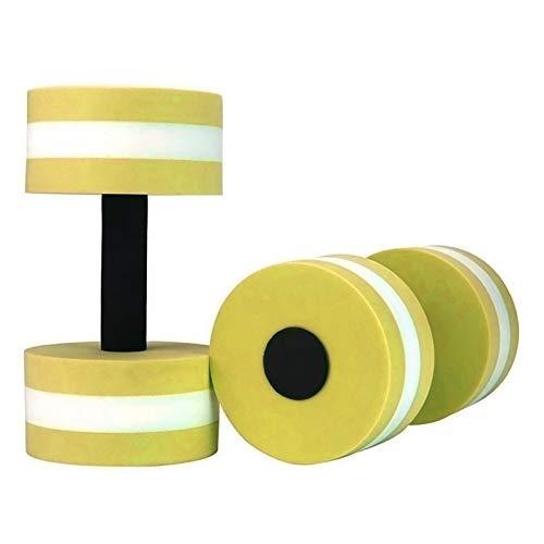 1 Par De Agua Fitness Mancuernas EVA Espuma Mancuernas Deportes Acuáticos Aptitud Barras De Mano Piscina Resistencia Ejercicio (Color : Yellow)