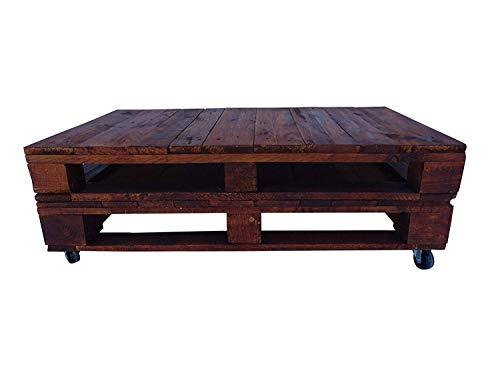 Mesa de pallets color Nogal - Dydaya