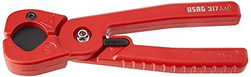 Cortatubos para tubos de PEX y plástico (22 mm de diámetro), color rojo Usag U03170001