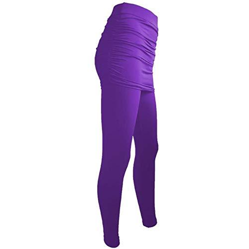 pantaloni donna xl UKKD Leggings Minigonne Laterali Donne Fitness Leggings Pannello Esterno Dell'Anca delle Donne Casuali Allungamento Risen Autunno-Inverno Pantaloni Traspirante