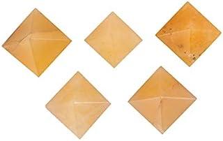 Aatm Energy Generator Gemstone Yellow Aventurine Pyramid Set of 5 (13mm to 14mm)