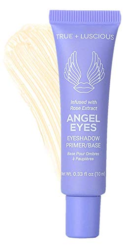 Angel Eyes Eyeshadow Primer by True + Luscious - Clean Formula with Rose Extracts - Vegan, Paraben Free, & Cruelty Free Eye Primer - Great for Oily Lids & Prevents Creasing - 0.33 oz (Shade: Light)