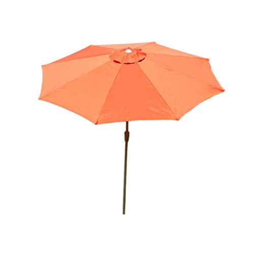 Mendler Sonnenschirm N19, Gartenschirm, Ø 3m neigbar Polyester/Alu 5kg - Terracotta