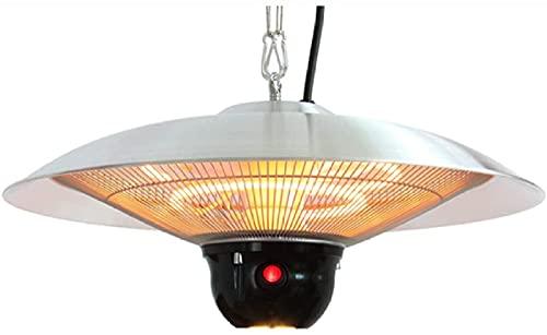 ZYR Calentador de patio al aire libre, calentador infrarrojo de pie impermeable IP44 con control remoto para exterior interior jardín balcón