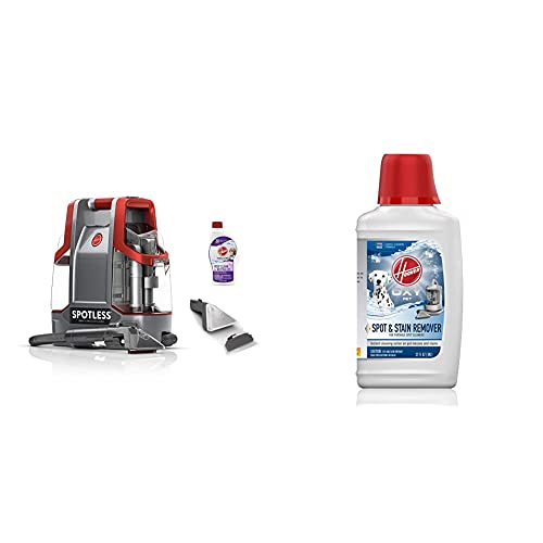 Hoover Spotless Portable Carpet & Upholstery Spot Cleaner Oxy Premixed Spot Cleaner Solution, Stain Remover and Odor Neutralizer for Pets