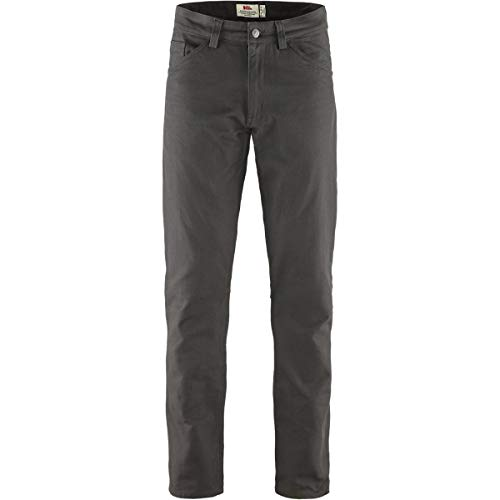 Fjallraven Herren Greenland Canvas Jeans M Sport Trousers, Dark Grey, 48