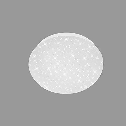 Briloner 3171-016 Plafonnier LED, avec décoration en étoile, 4,5W, 450lm, 4000K, blanc, diamètre: 16cm