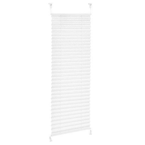 [neu.haus] Klemmfix Plissee 75 x 200 cm Weiss Sonnen und Lichtschutz Blickdicht ohne Bohren