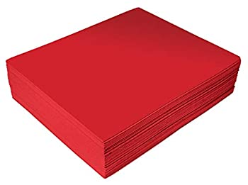 Red EVA Foam Sheets 30 Pack 2mm Thick 9 x 12 Inch by Better Office Products Red Color for Arts and Crafts 30 Sheets Bulk Pack
