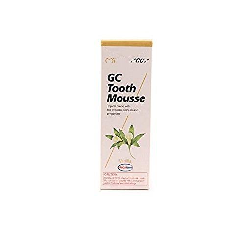 Gc Tooth Mousse Protección Diente Crema De Vainilla, 1-Pack (1 X 40 G)