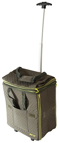 dbest prdoucts Smart Expandable Tote Travelux Series: Premium Quilted Cart Weekender Bag Carry-on, Olive