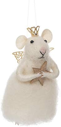 GALLERIE II Fairy Princess Mouse Wool Holiday Christmas Xmas Ornament White product image