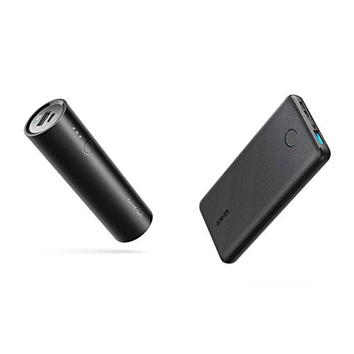 Anker PowerCore 5000 Portable Charger & Portable Charger, PowerCore Slim 10000 Power Bank, Compact 10000mAh External Battery, High-Speed PowerIQ Charging Technology (USB-C Input Only)