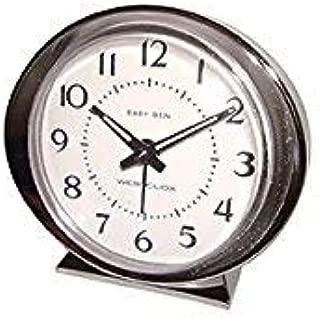 Westclox Alarm Clock Beige Brushed Stainless Steel Case, Metal Bezel