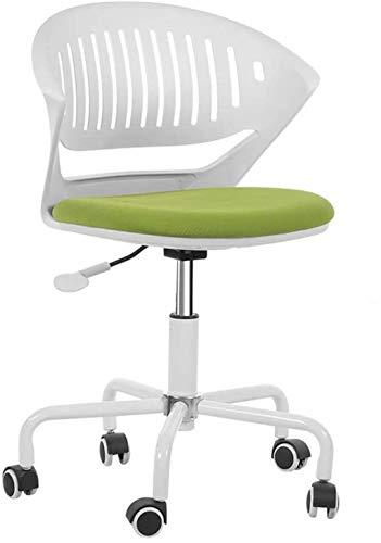 Sedia da ufficio Sedia da ufficio per ufficio per computer con rotelle orientabili (Color : Green)