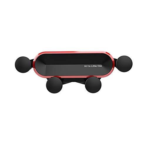 Tayar Handyhalterung für Auto, Schwerkraft Air Vent Universal-Kfz-Handyhalter Holder zubehör Lüftungsgitter smartphonehalter universalhalterung einhandbedienung (Rot)
