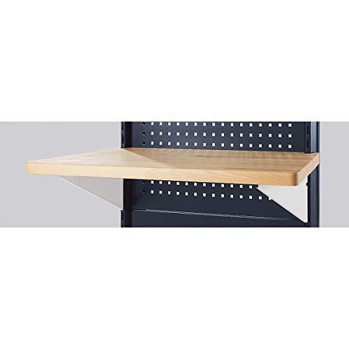 Arbeitsplatte für Trennwandelement Trapez, BxT 830 / 1000 x 500 mm inkl. Einhängewinkel