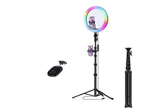 Orthland TikTok Vlog - Anillo de luz con trípode (12 pulgadas, soporte para teléfono móvil y mando a distancia)