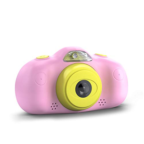 "CSL Computer Kinderkamera P8 - Digitalkamera/Fotoapparat für Kinder ab 3 Jahren, 2,4\"" TFT Farbdisplay, 1080p HD, 8MP, Videofunktion, inkl. 4 Spiele, pink"
