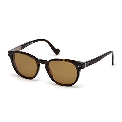 Moncler Unisex-Erwachsene ML0010 52E 51 Sonnenbrille, Braun (Avana Scura/Marrone)