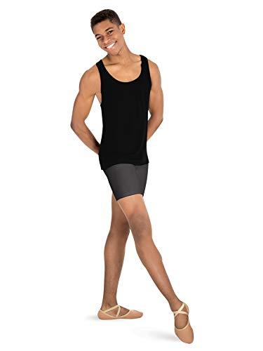 Body Wrappers Boys Dance Shorts,B192BLKM,Black,Medium