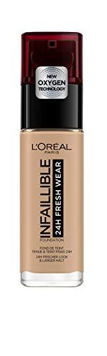 L'Oréal Paris Infaillible 24H Fresh Wear Make-up 220 Sand, hohe Deckkraft, langanhaltend, wasserfest, atmungsaktiv, 30ml