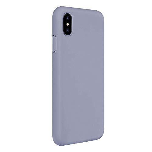 Oihxse Mate Líquido de Silicona Gel Funda - Compatible con Samsung Galaxy S8 Ultra Fina Suave Protección Carcasa Microfibra Suave Cojín Anti-rasguños Teléfono Caso Bumper (Gris)