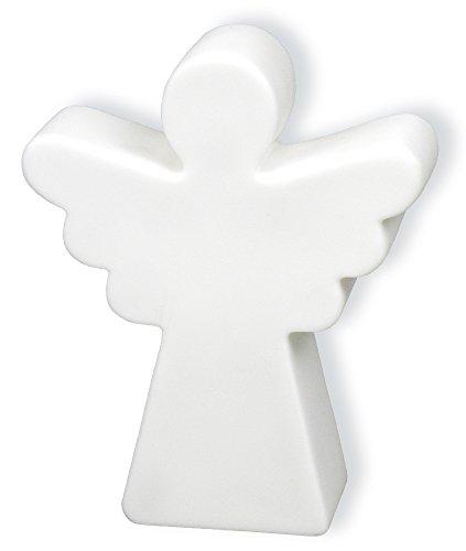 °° Leuchtfigur ENGEL, Höhe 11 cm, aus Kunststoff mit LED-Licht, batteriebetrieben, inkl. Batterien