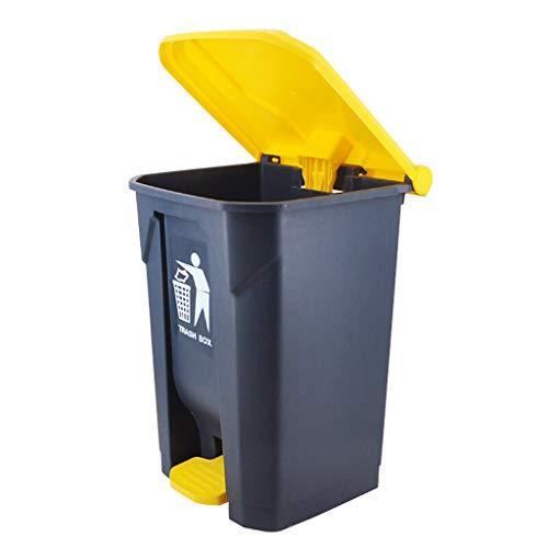 Poubelle d'extérieur Poubelle en plastique extérieure de 13,2 gallons for jardin jaune et gris parc Collecteur de déchets (Taille : 13.2 gallons)