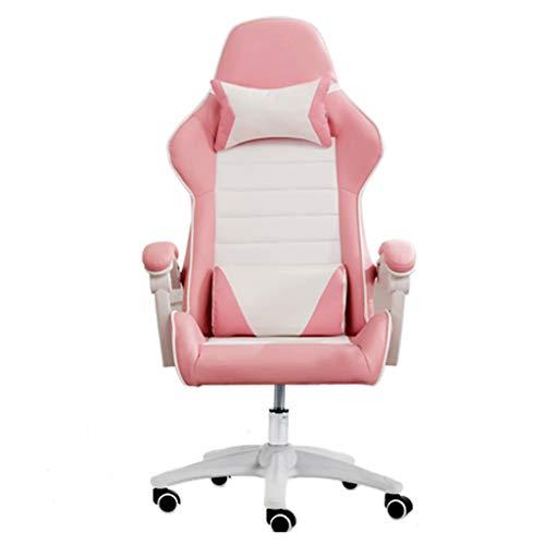 Chaises Fauteuils d'ordinateur de Bureau de Sports électroniques de Mode de Jeu d'ordinateur à la Maison Longue de détente d'ancre Rouge Nette Pink Boss
