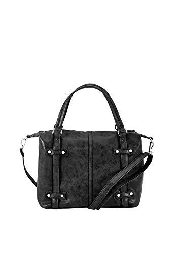 s.Oliver (Bags Damen Shopper Henkeltasche, Schwarz (Black), 13x27x28 cm