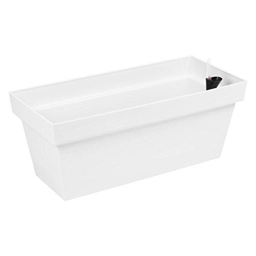 Fioriera vaso per piante Cube Case con sistema d'irrigazione, capacità 25,5 Lt , colore: bianco