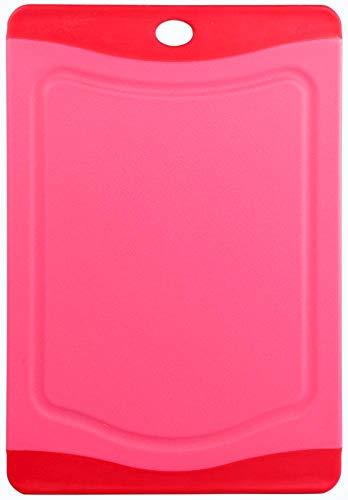 Culinario, tagliere con protezione igienica, disponibile in dimensioni e colori diversi, rot, 20,3 x 14 cm