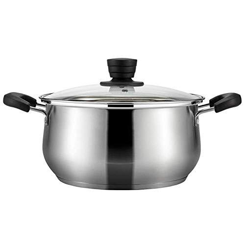 L.TSN Pot à ragoût Casserole Pot - Fond Composite à Trois Couches en Acier Inoxydable 304 pour Toutes Les Sources de Chaleur 18 cm de diamètre (Couleur: Taille A: 18 cm de diamètre)