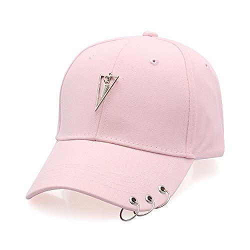 VOVTT Einfarbiger Hut, Reifenmütze, Outdoor-Freizeit-Baseballmütze 5-pink