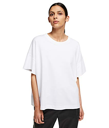 KARL LAGERFELD Relaxed Fit T-Shirt Camiseta, Blanco, XS para Mujer