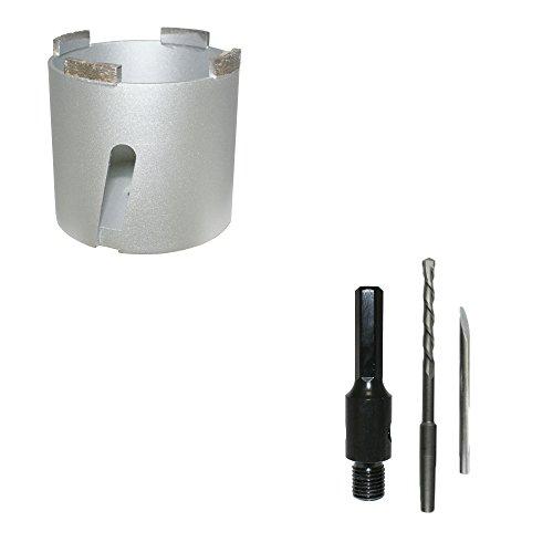 Diamant-blikverzinkboor universeel Ø 82 mm + zeskanthouder incl. boor dozenverzinkboor boorkroon dozenboor stekkerdoos - Bodi Tools