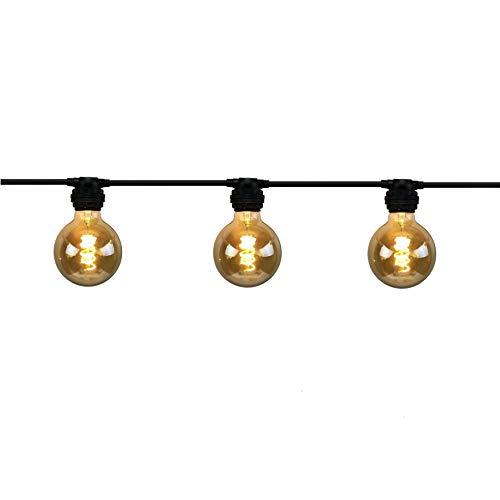 Guirnalda de bombillas Antic de 24 m, bombillas E27 incluidas, Vintage, 192 W, 48 x 320 lúmenes, 2200 K, IP44, clase II