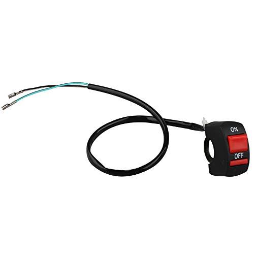 Jopto Interruttore a Doppio Pulsante Per Moto, 22 mm, Interruttore Per Manubrio Da 22 mm, Per Fari Fendinebbia, Luce Lampeggiante