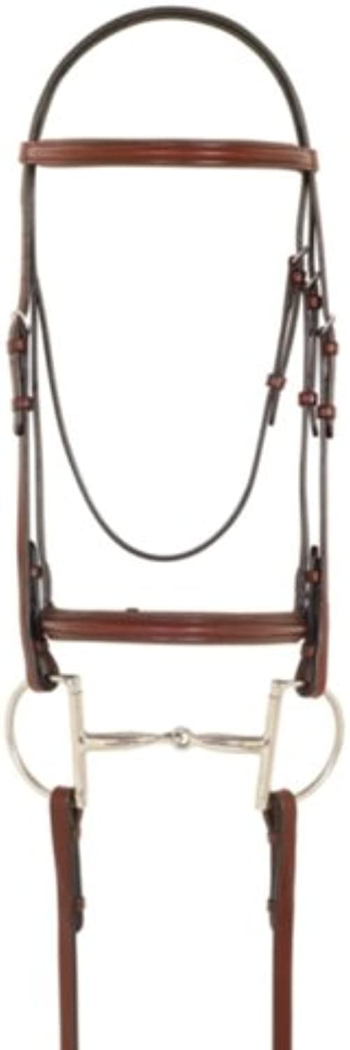 Camelot Plain Raised Paddled Bridle with Laced Reins