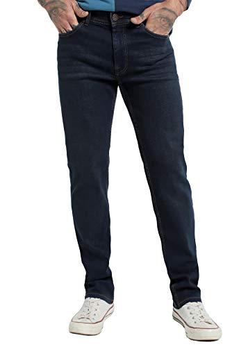 SIX VALVES - Pantalon Denim Elastico para Hombre - Confort   De algodón   Cierre con Cremallera   Tallaje en Pulgadas   Talla Inch - 34