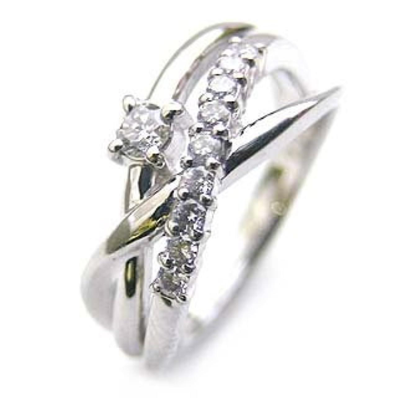 者解釈するカスケード(婚約指輪) ダイヤモンド プラチナエンゲージリング(4月誕生石) ダイヤモンド #14