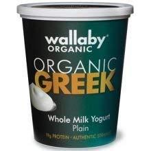 Wallaby Organic Plain Whole Milk Greek Yogurt, 32 Ounce -- 6 per case.